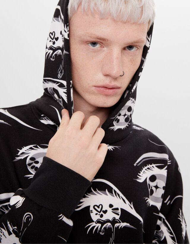 Billie Eilish X Bershka Printed Sweatshirt Man Bershka