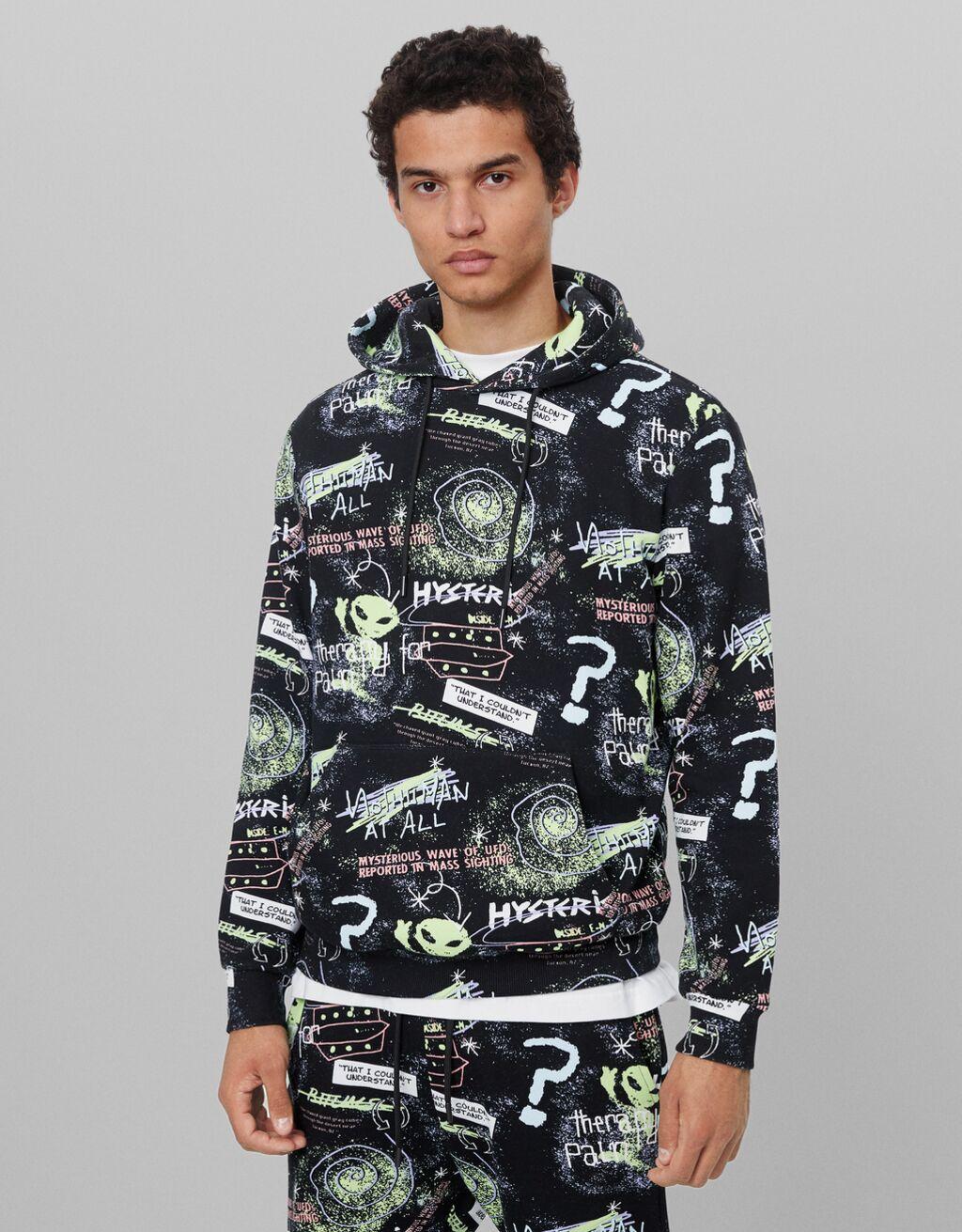Alien print sweatshirt - Man