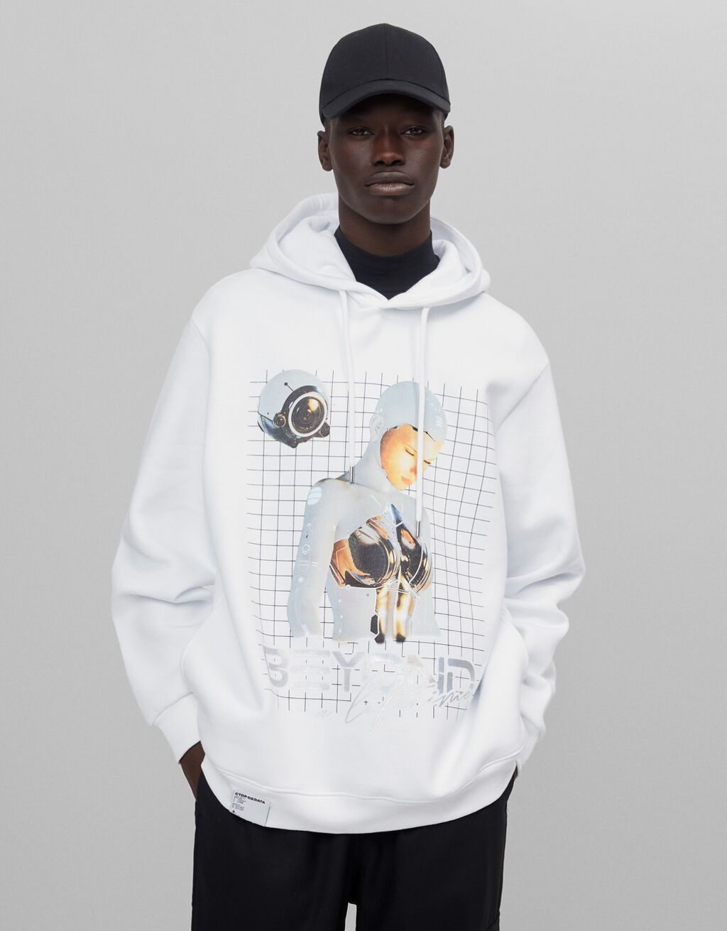Hoodie with robot print - Sale Favourites - Man