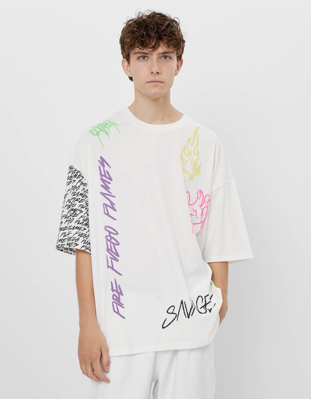 グラフィティプリントTシャツ