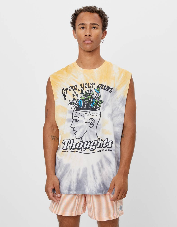 T-shirt tie-dye estampado