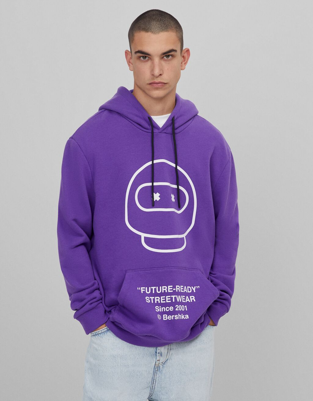 FUTURE/READY-sweatshirt med hætte