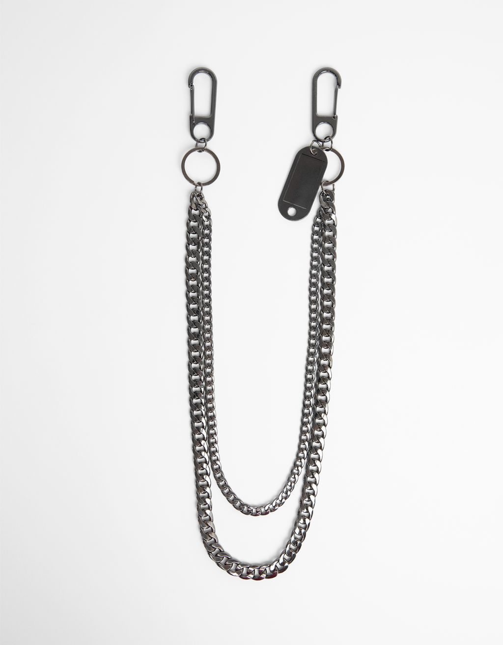 Double-chain key ring