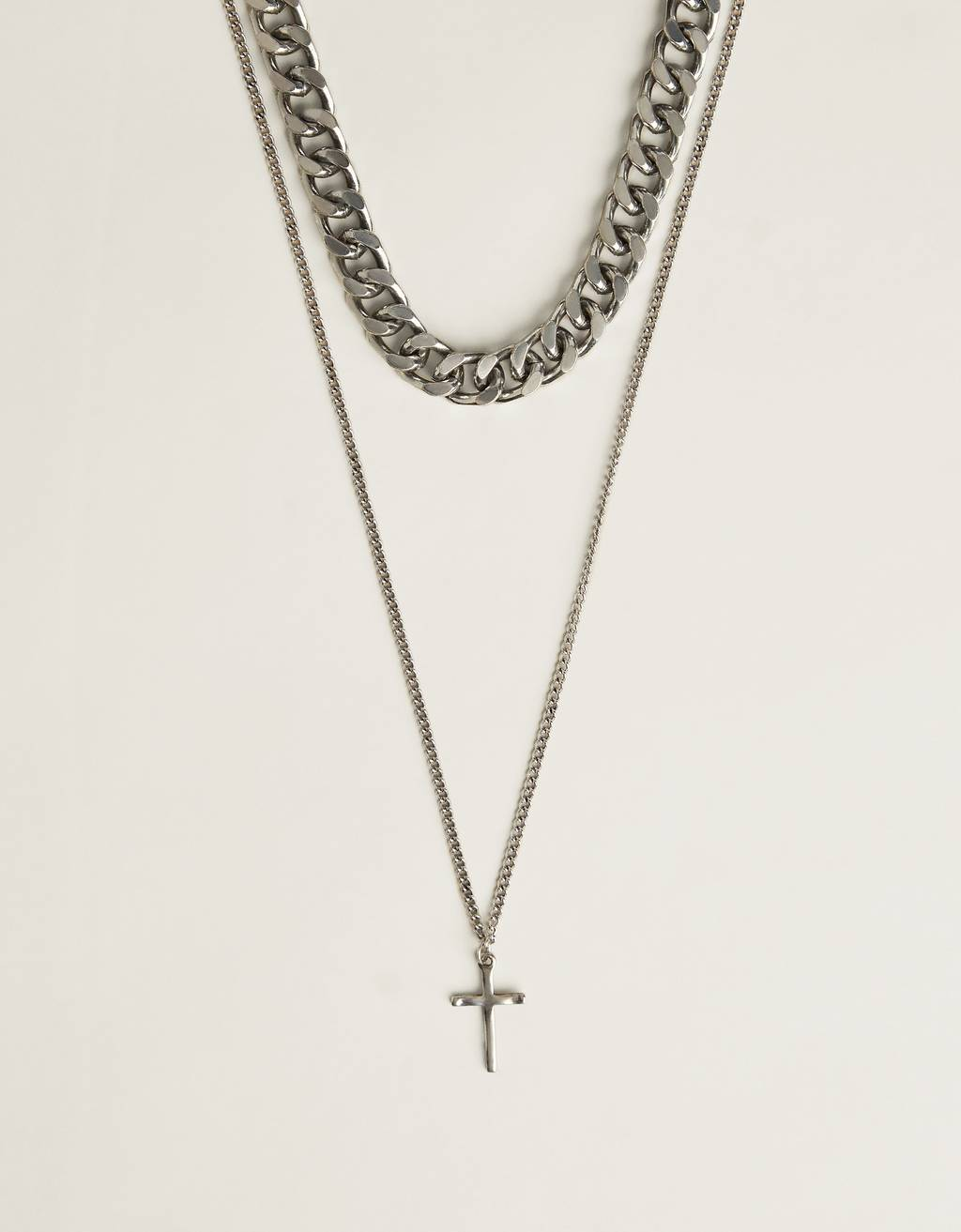 Chain necklace with a cross