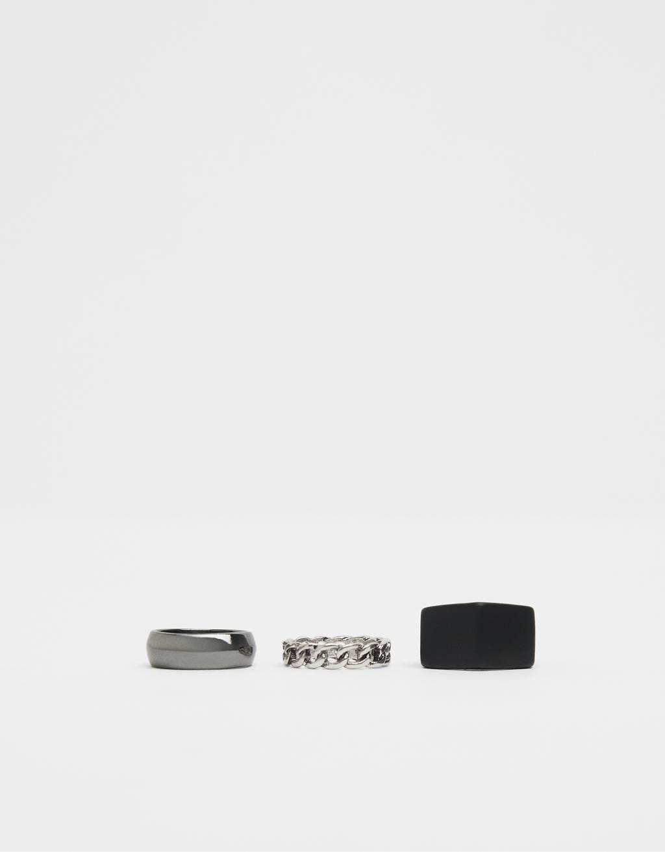 Súprava minimalistických prsteňov