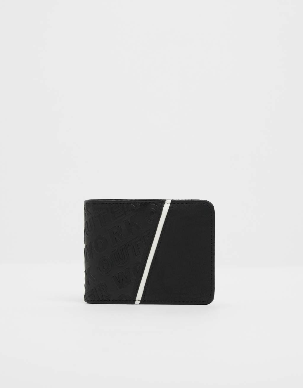 Contrasting embossed wallet
