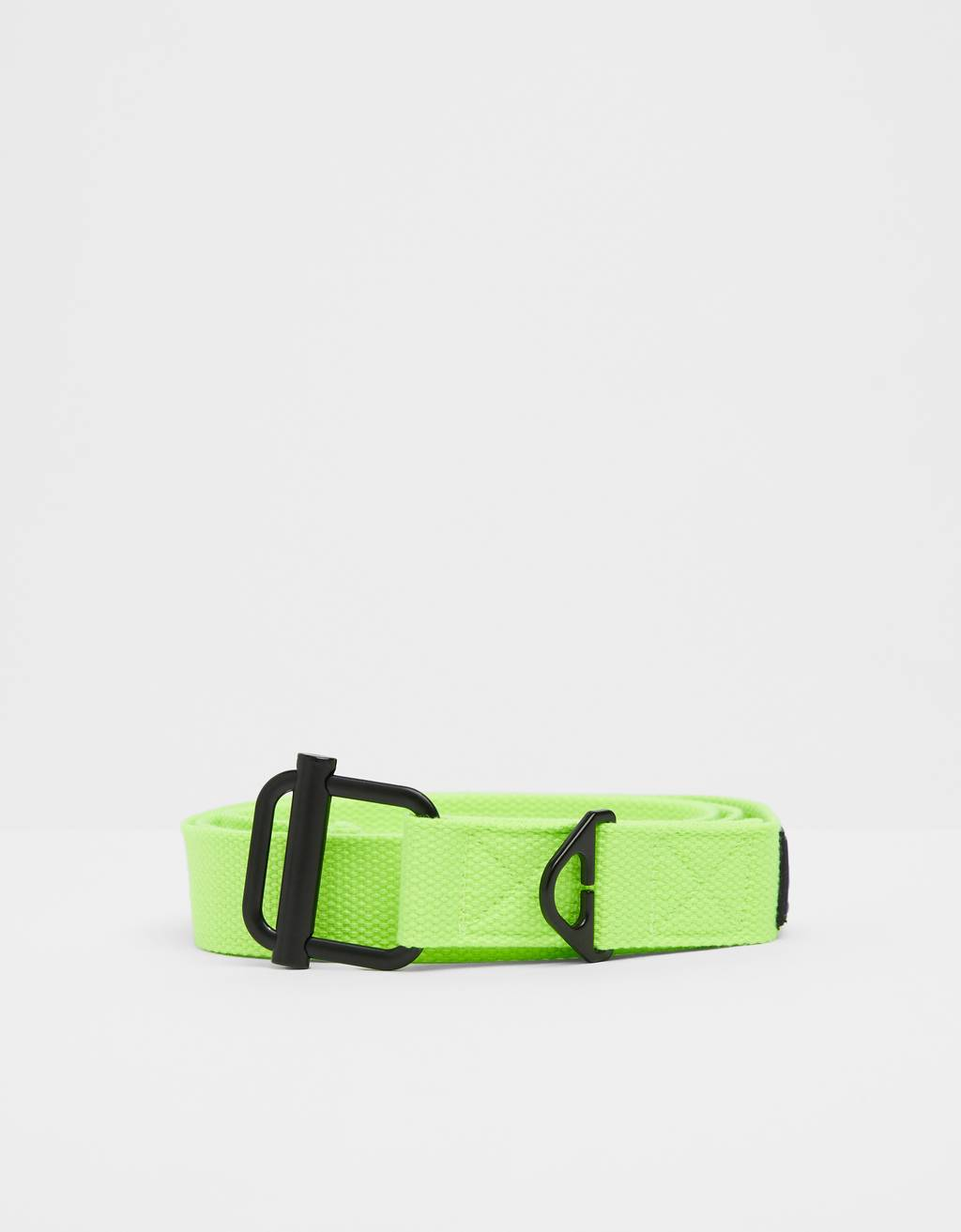 Neon canvas belt