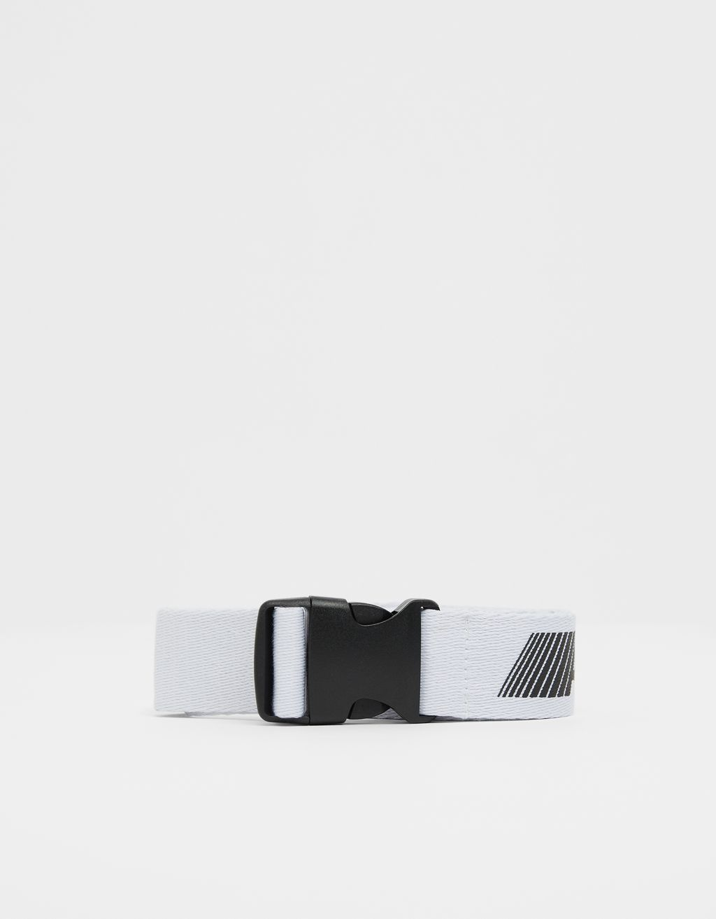 Printed canvas belt