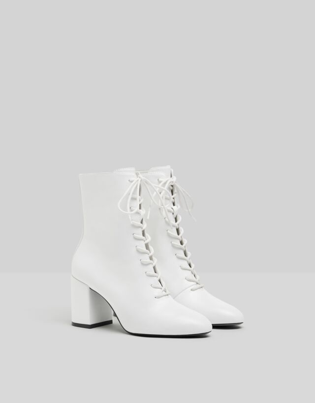 Lace-up high heel ankle boots - Woman