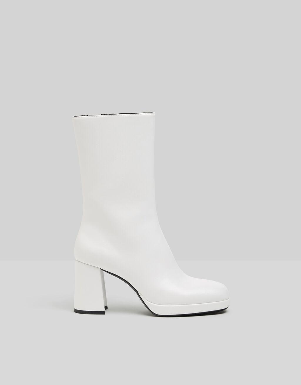 high heeled platform ankle boots