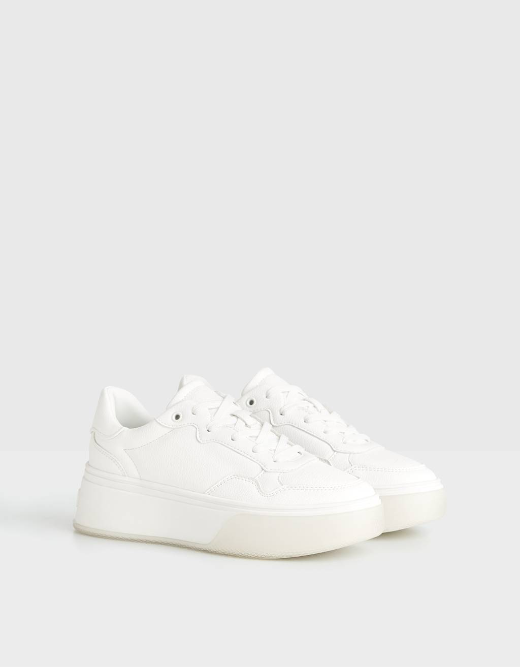 Platform sneakers with translucent sole
