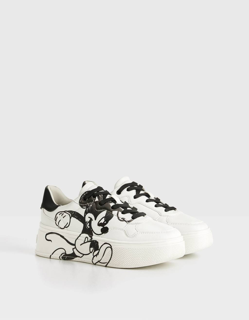 """Mickey gets arty"" platform sneakers"