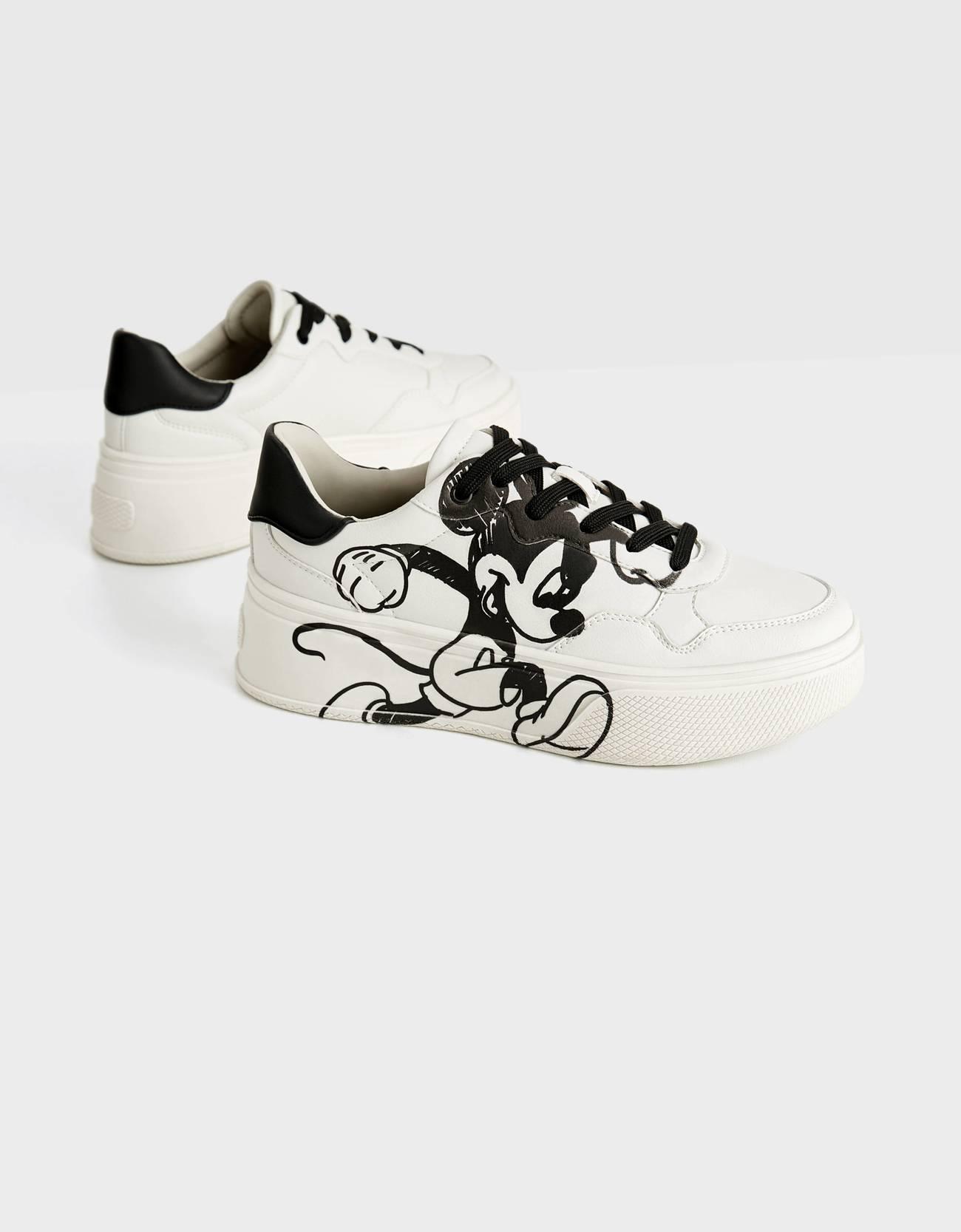 Кроссовки на платформе Mickey gets arty