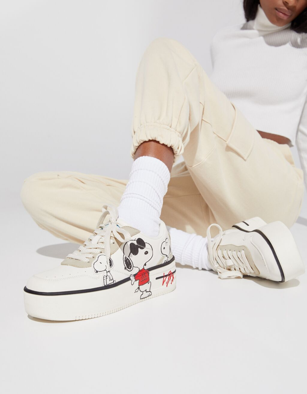 Snoopy platform trainers - Shoes - Woman