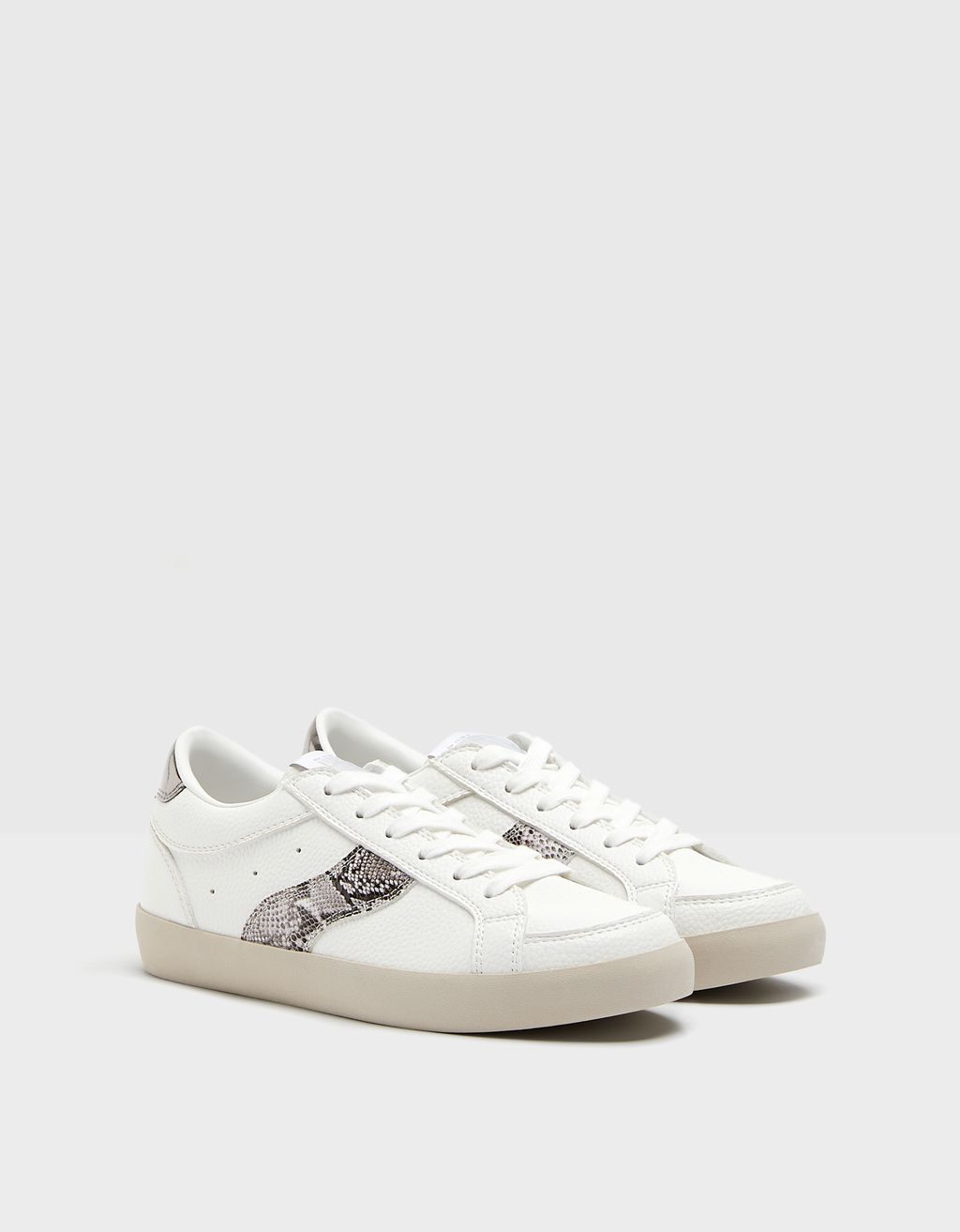 Trainers with embossed animal print detail