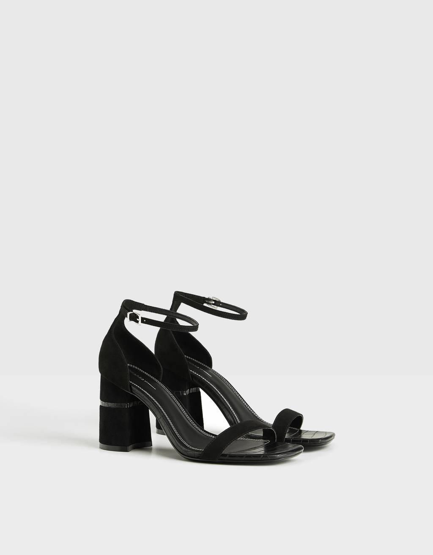 Sandaler med kombinerad klack