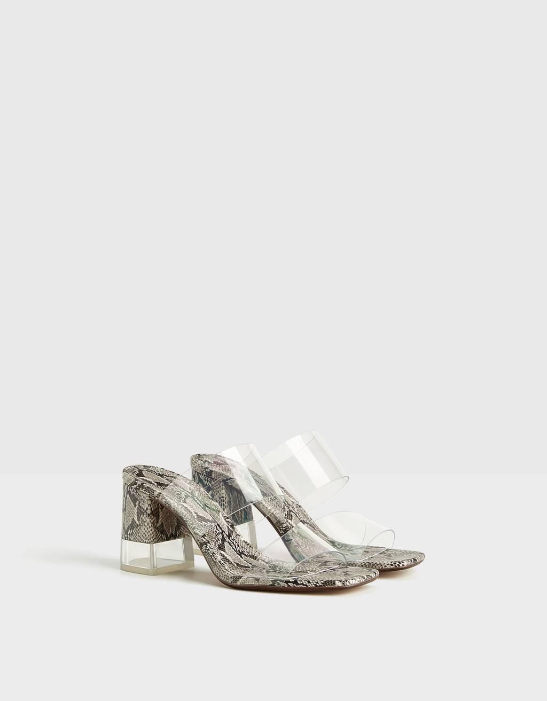 Double-slide vinyl heels