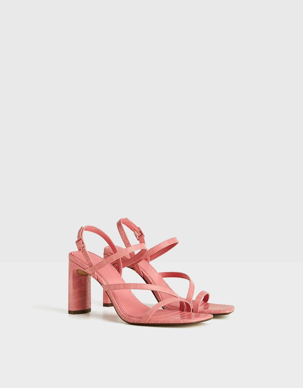 Sandalo con tacco multi fascette
