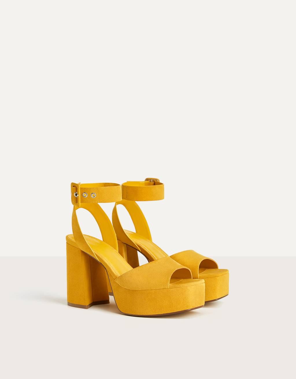 Augstpapēžu sandales ar platformu