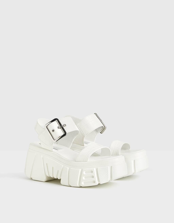 Sporty platform sandals