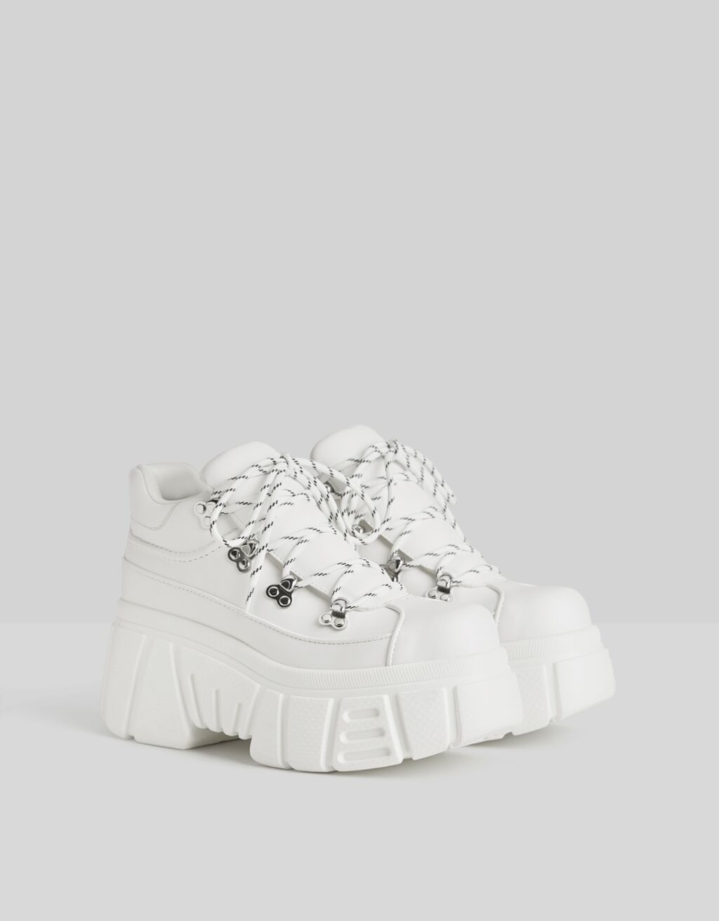 High-top trainers with XL soles