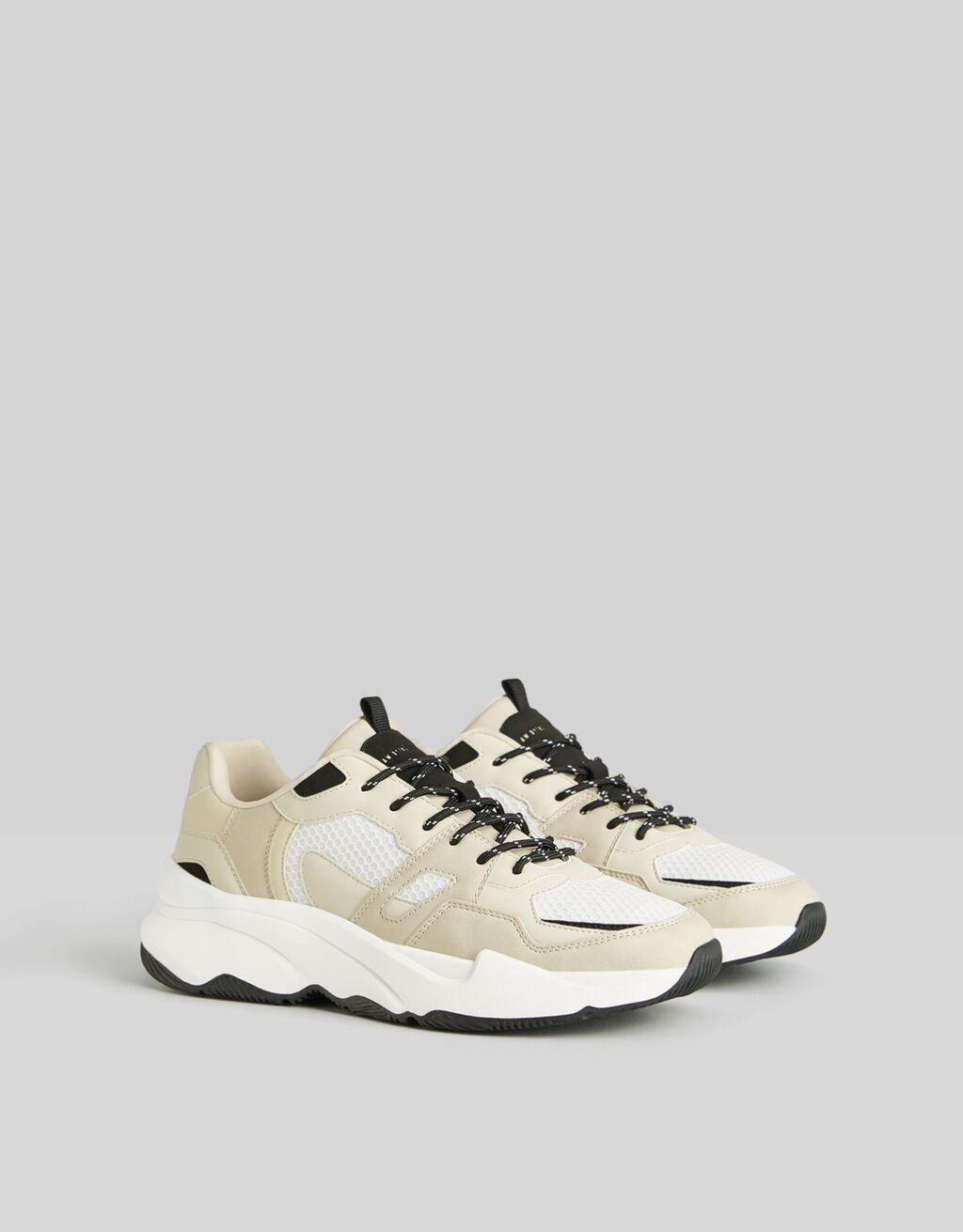 Pantofi sport bărbătești combinați cu plasă