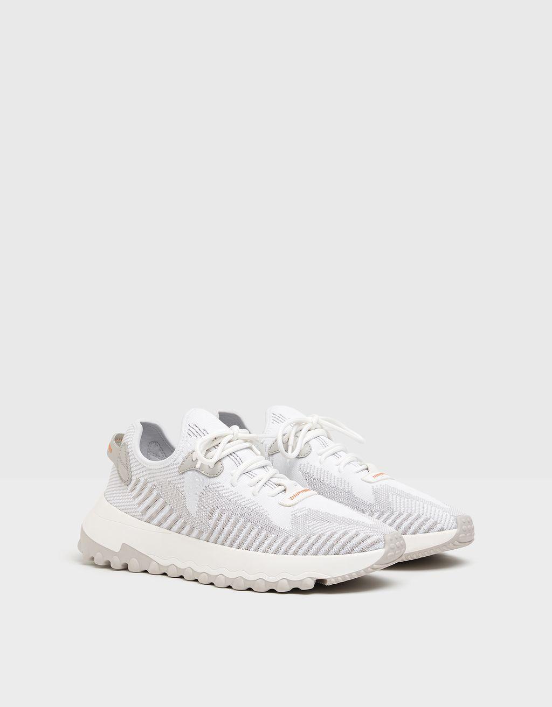 Sneakers i netstof i strømpestil til herrer