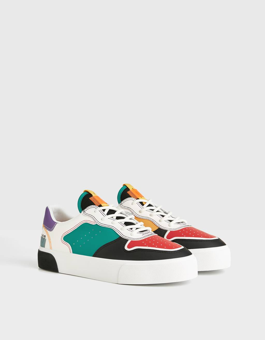 Men's combined multicoloured trainers