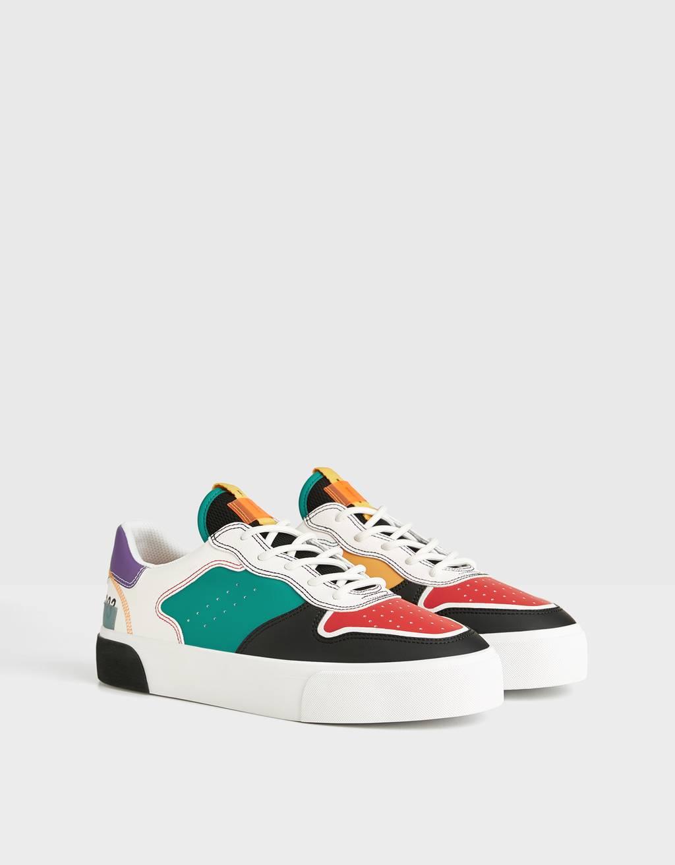 Zapatillas piezas multicolor hombre