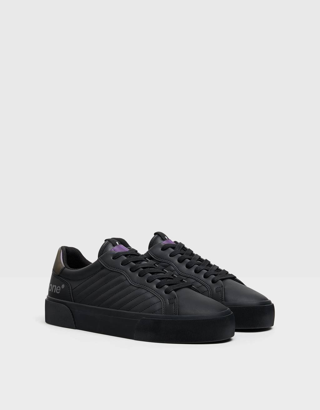 Men's quilted trainers