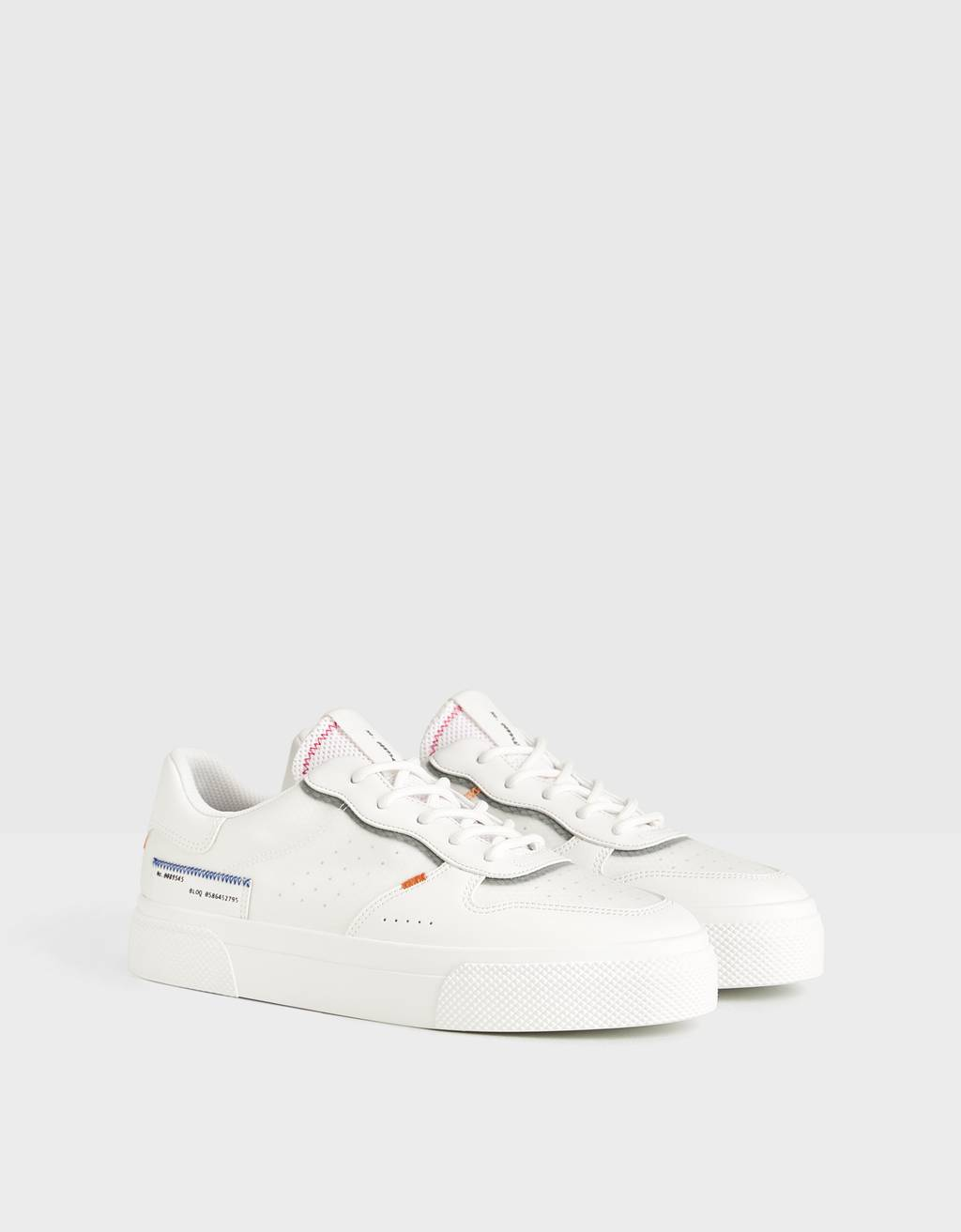 Contrast trainers with mesh detail
