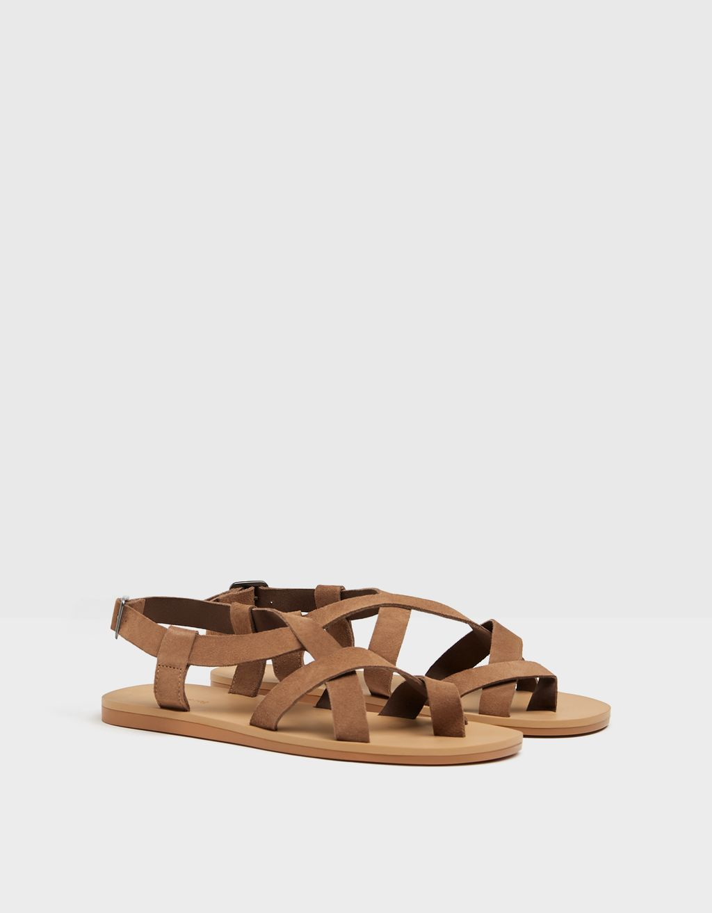 Men's strappy LEATHER sandals.