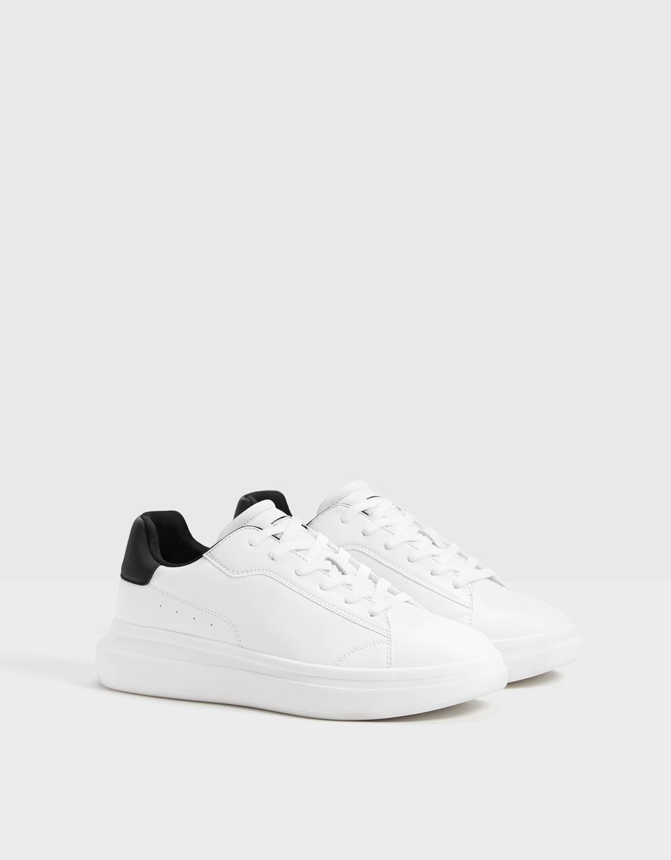 Men's trainers with reflective heel