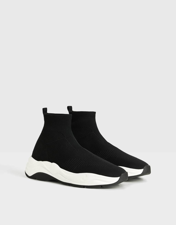 Hohe Herren-Sneakers mit elastischem Schaft