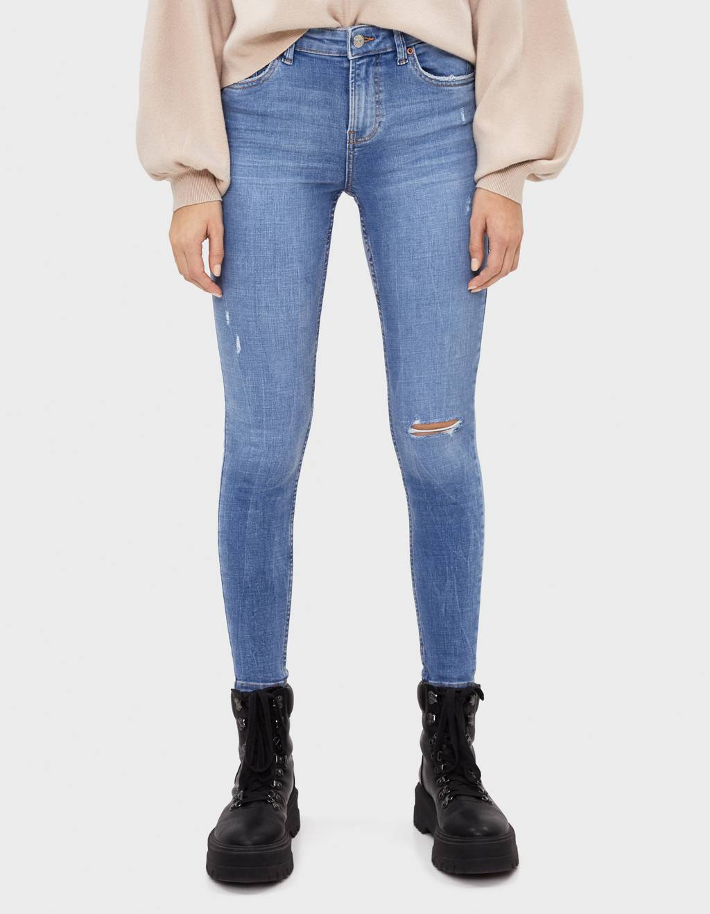 Jeans Skinny High Wasit