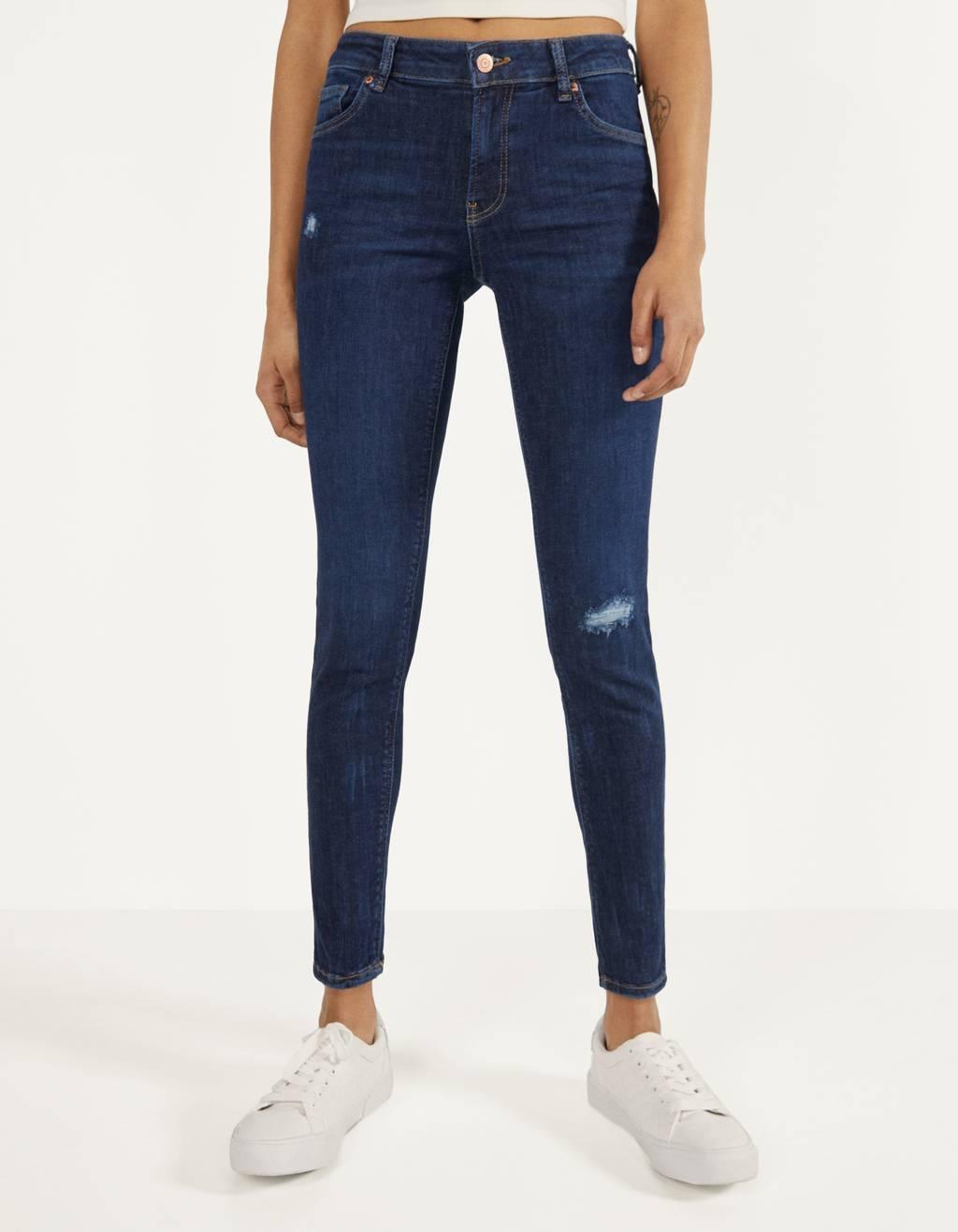 Push-Up-Jeans mit halbhohem Bund