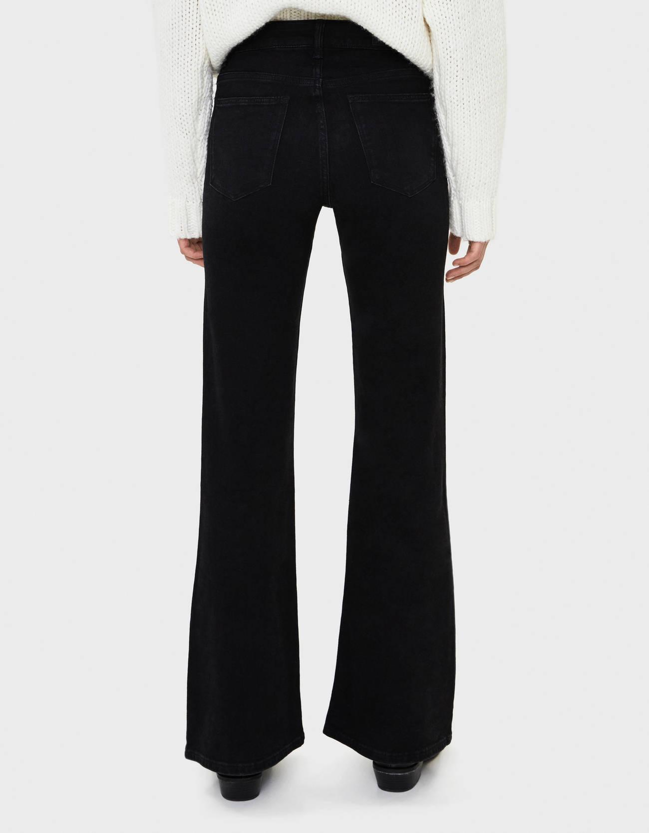 Расклешенные джинсы Черный Bershka