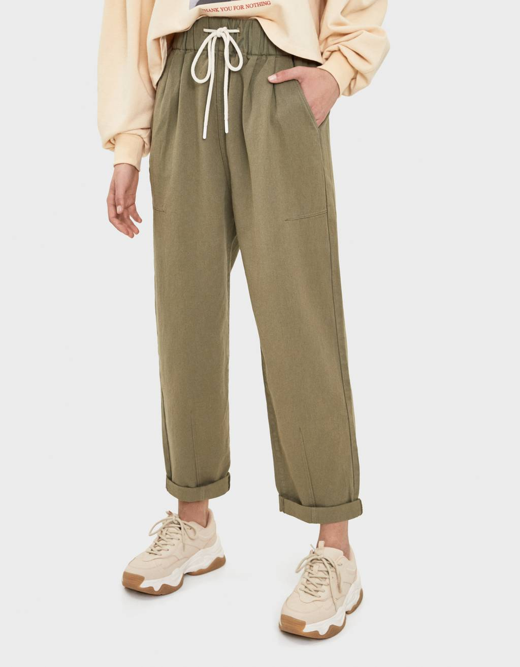 Balloon fit sweatpant jeans