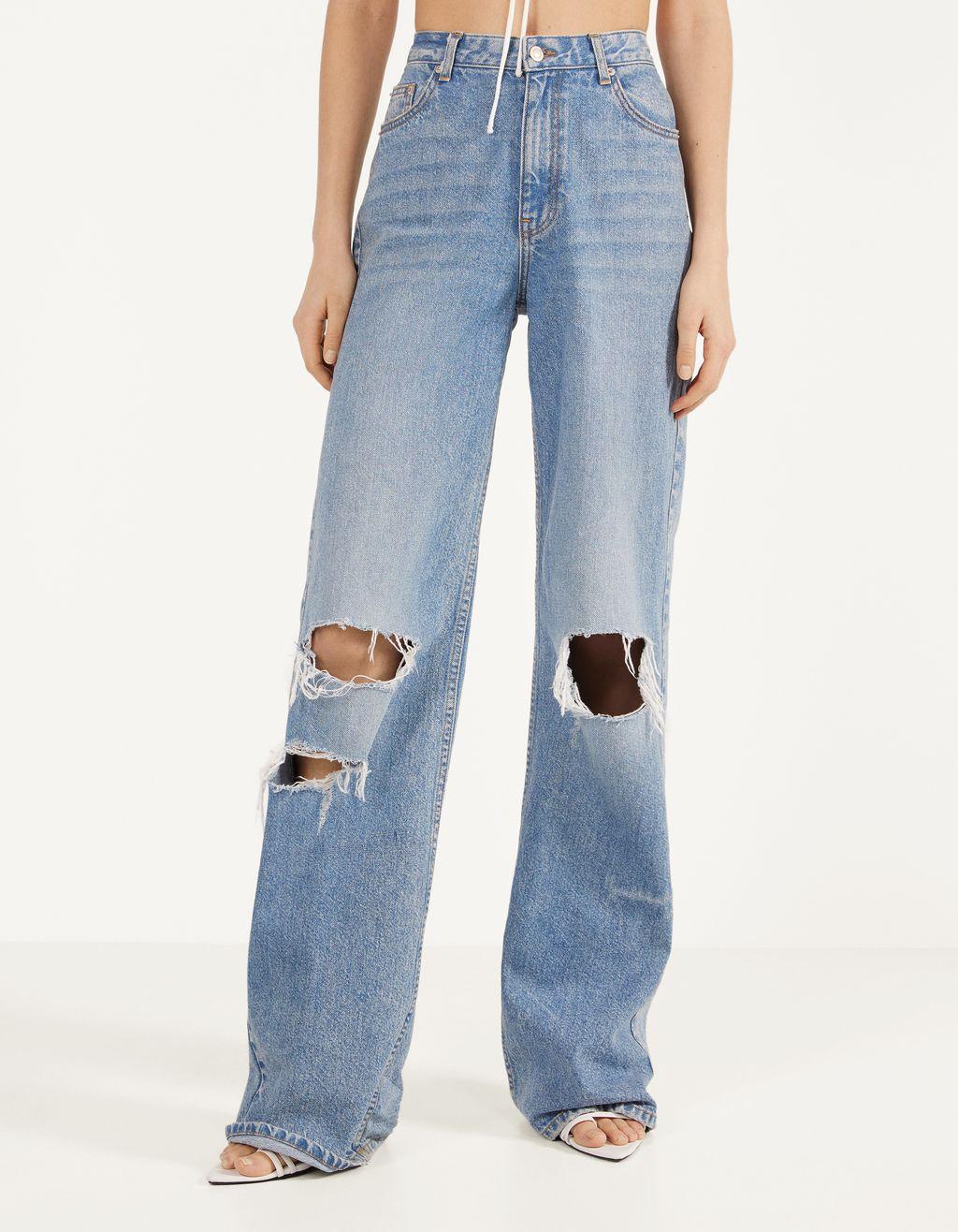 '90s gescheurde klokkende jeans