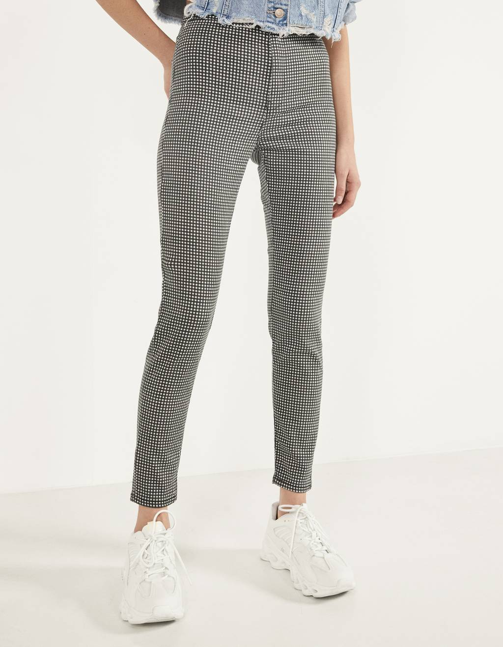 Pantaloni Jegging High Waist
