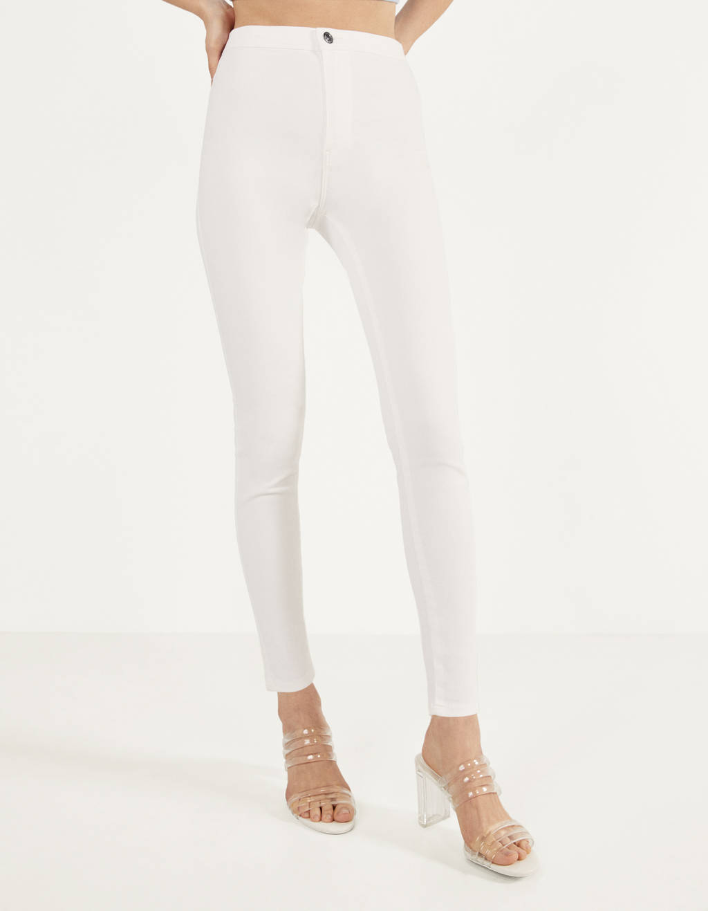 Pantalons jeggings high waist