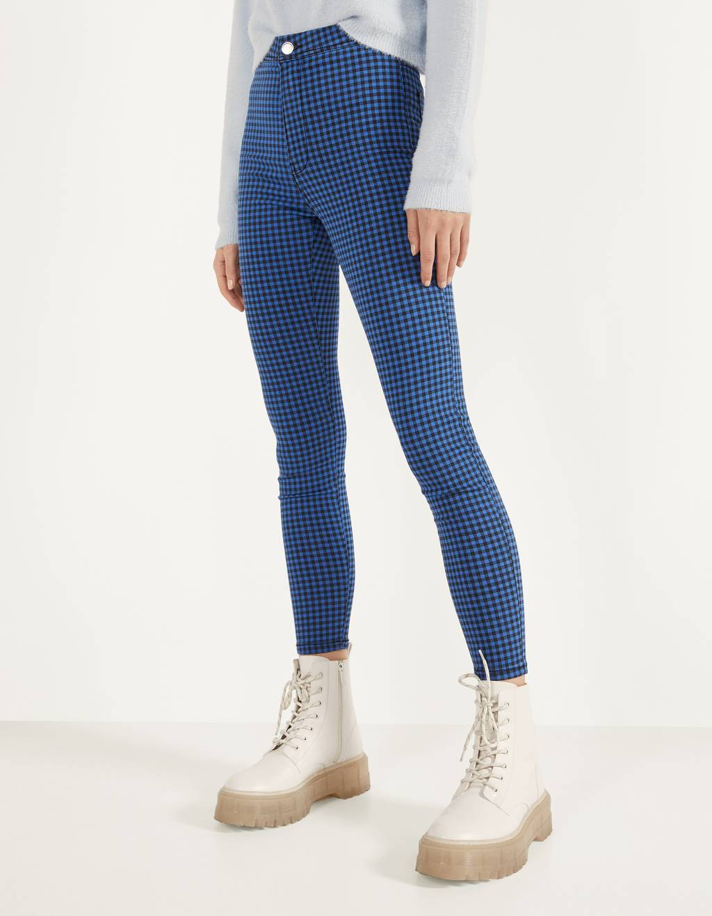 Pantaloni jeggings high waist