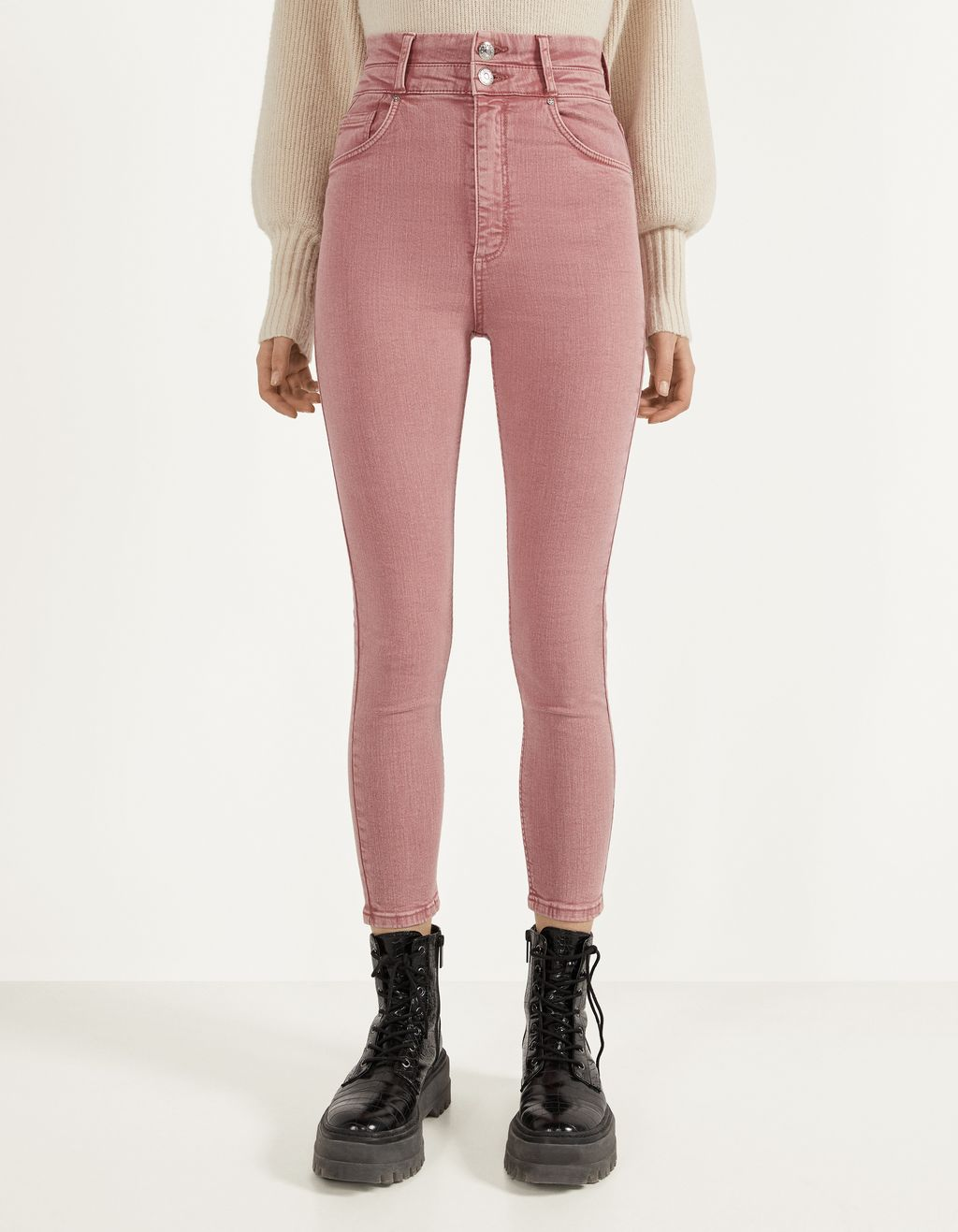 Double-waist Skinny Fit jeans