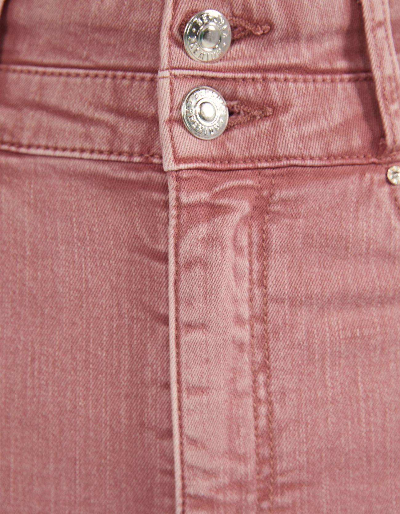 Джинсы скинни с двойным поясом Розовый Bershka