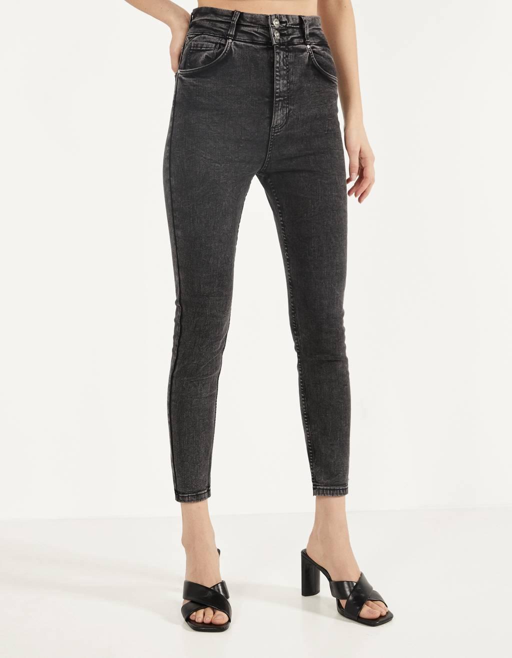 Skinny-Fit-Hose mit doppeltem Bund