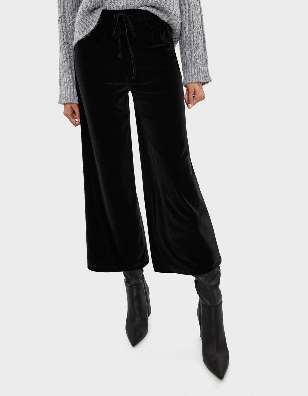 Jupe-culotte en velours