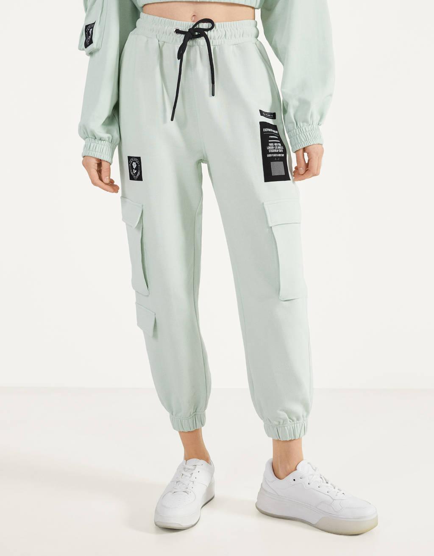 Cargo hlače jogging stila od felpe