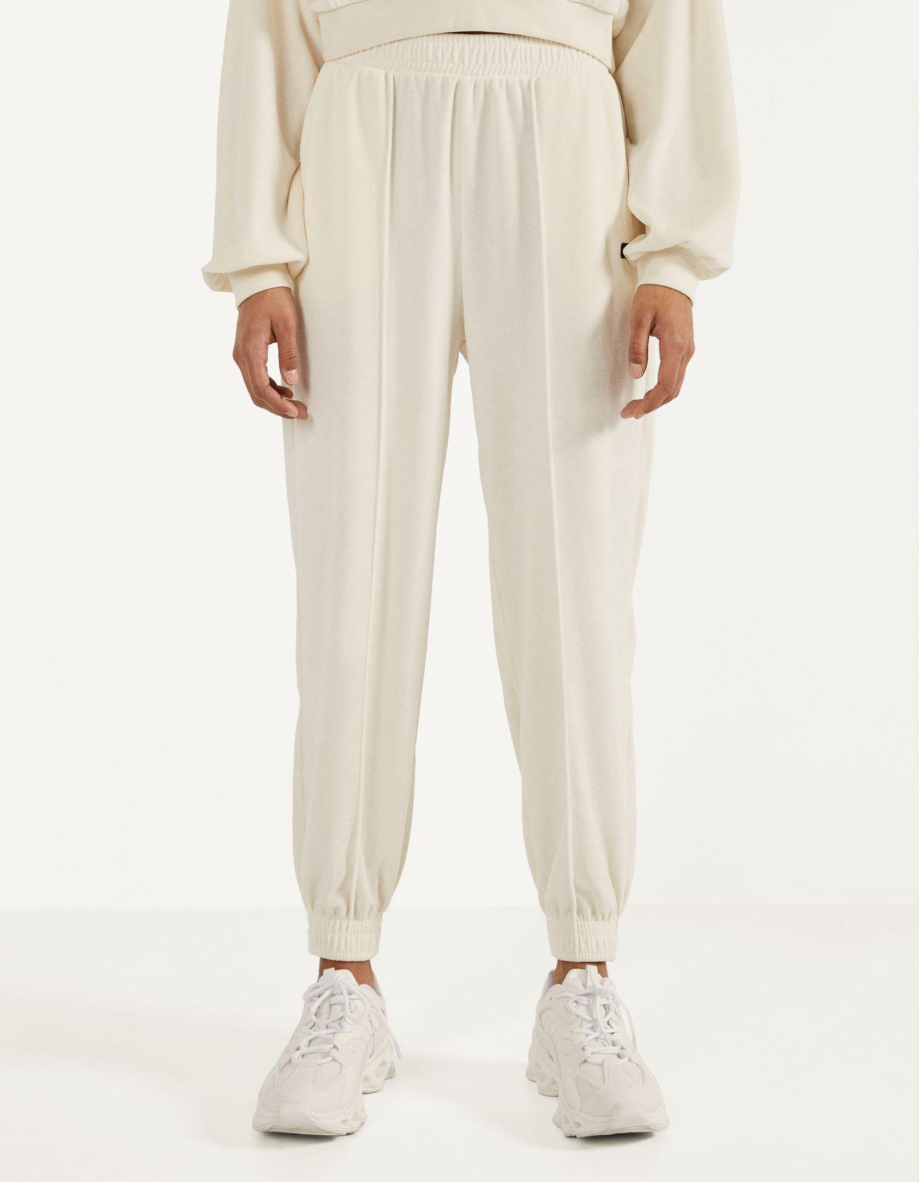 Velvet jogging trousers