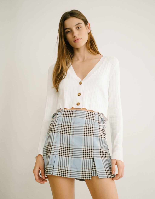 Falda pantalón con hebillas