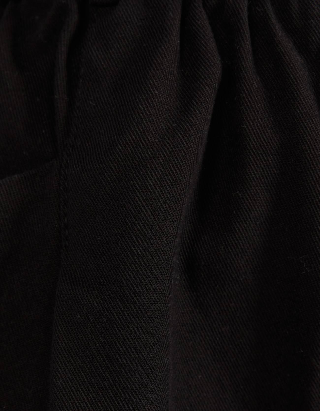 Брюки Paperbag с ремнем ЧЕРНЫЙ Bershka